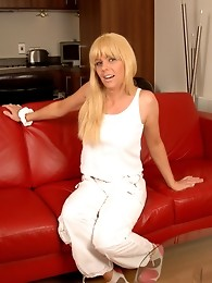 In this photoset I am the takeaway delivery girl for the scene of my upcoming DVD, Shemale Exposed!