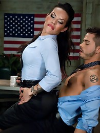 Ass smothering and fucking by the finest Latina Ts in the biz- Ts Foxxy fucks & cums on a lying guy who drinks every drop of his freedom from her