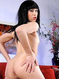 Naughty Alina strips and poses her goodies