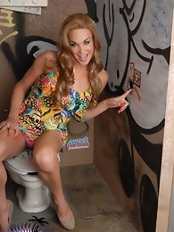 Jonelle taking a cock through a glory hole