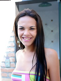 Lisa Lins, from San Paulo, Like to Have Fun by the Pool.
