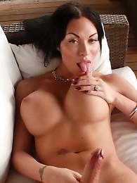 Hot Mia posing her huge boobies & ladystick