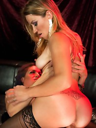 New Dom, Kelli Lox and her thick cock fuck Bella Wilde in the back of a strip club. Kelli and Bella have steamy chemistry and explosive orgasms.