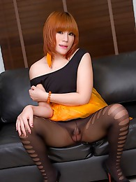 Orange Tutu Sofa Cum