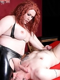 Mistress Danyella is new to the TranSexDomination dungeon . . . but she certainly is no newbie when it comes to controlling sub boys. She puts Jake th