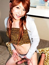 Hot redhead cross-dresser who loves to party