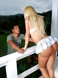 Bruna Prado Banged By Ed On The Porch