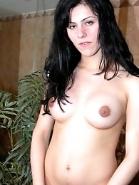 Felicitas fully naked playing with her huuuge fat dick