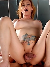 Hot transsexual Jasmine Jewels riding a black cock
