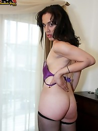 Michelle is a horny tgirl from the bronx who needs to have cum for breakfast every morning or else she'll be cranky. She seduces men with her tig