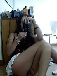 Incredible Nicole Posing In Sexy Latex Corset