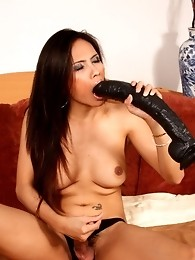 Angie Playing With Her Big Dick & Enormous Toy