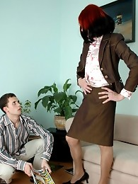 Kinky sissy guy having time for wild ass-fucking right at the working place