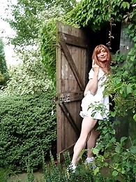 Follow cheeky Lucimay into her garden shed for fun