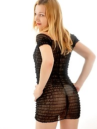 This blonde tranny loves to show off her sexy body and ass