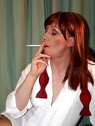 Tranny slut Lucimay smoking seductively
