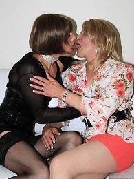 Hot Tgirl Zoe Fuck Puppet gets her huge dick inside a slutty blonde transsexual
